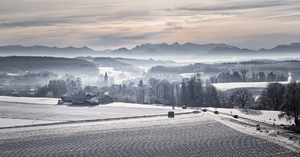 Morning on Winter Landscape